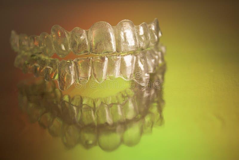 Plastikowi stomatologiczni orthodontics obrazy stock