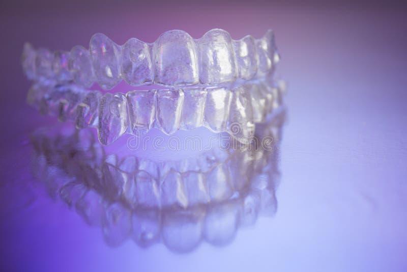Plastikowi stomatologiczni orthodontics fotografia stock