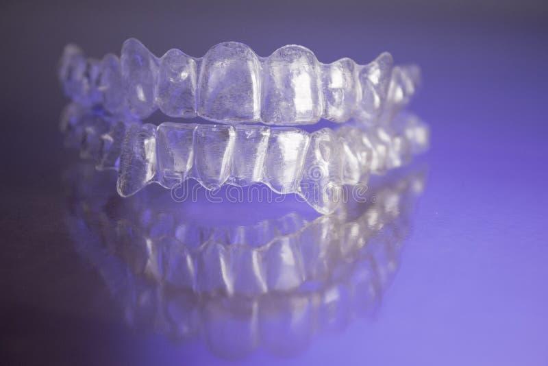 Plastikowi stomatologiczni orthodontics fotografia royalty free