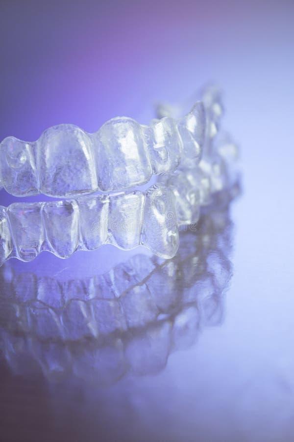 Plastikowi stomatologiczni orthodontics obraz stock