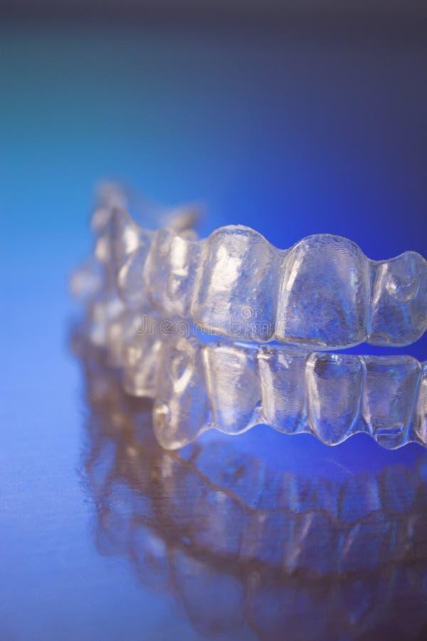 Plastikowi stomatologiczni orthodontics zdjęcia royalty free