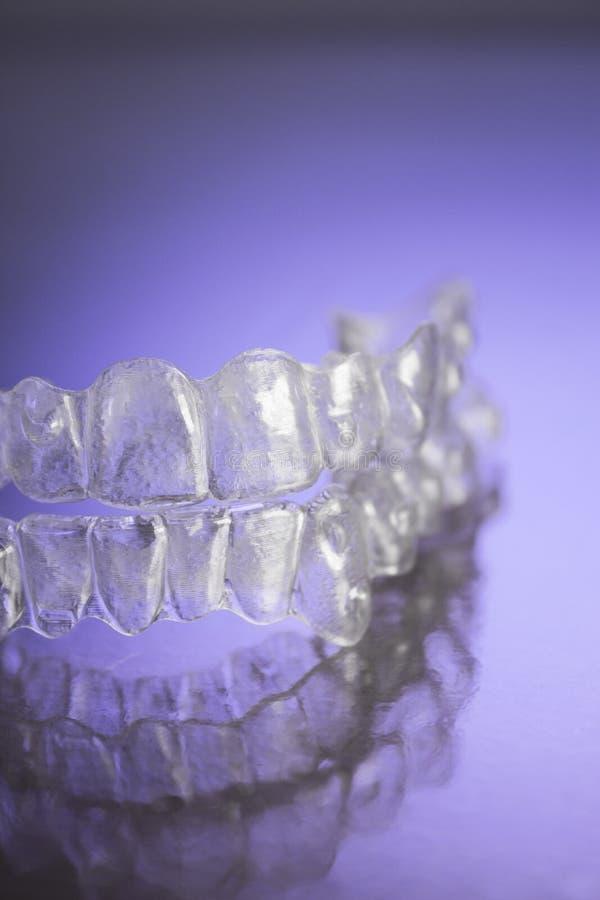 Plastikowi stomatologiczni orthodontics zdjęcie stock