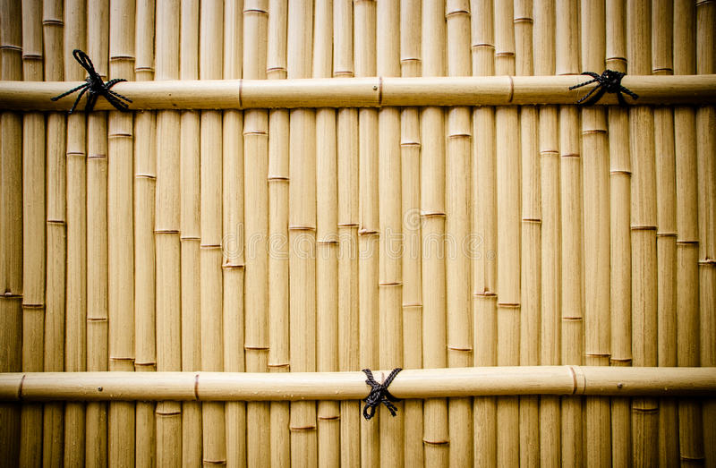 Plastikowy bambusa ogrodzenie w Japan fotografia royalty free