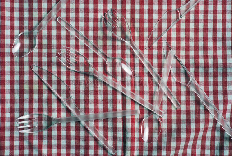 Plastikowy cutlery fotografia royalty free