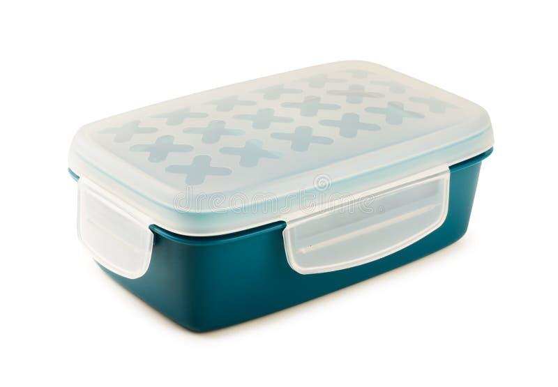 Plastikowy lunchbox, pudełko dla jedzenia odizolowywającego obrazy stock