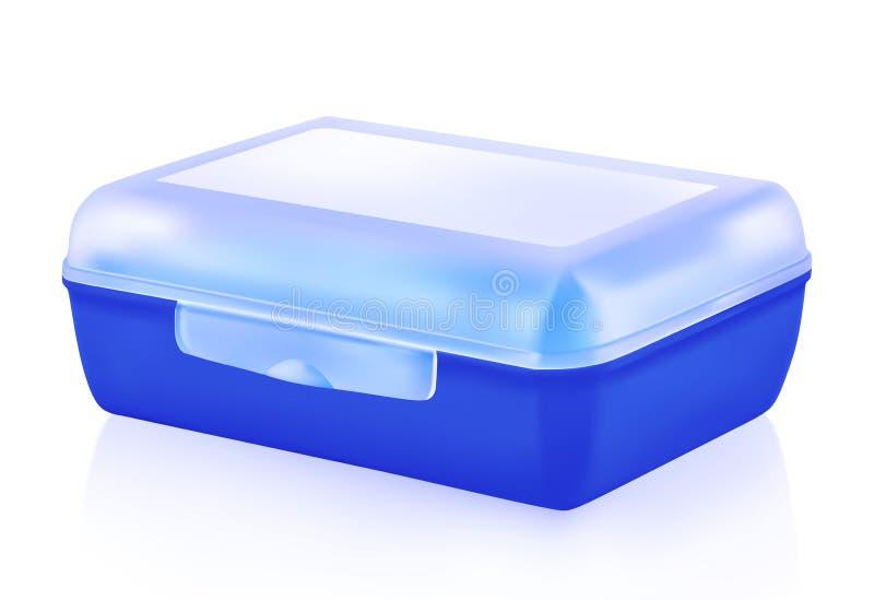 Plastikowy lunchu pudełko ilustracji