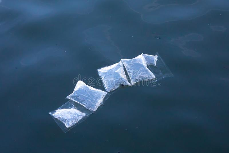 Plastikowy morski zanieczyszczenie obrazy stock