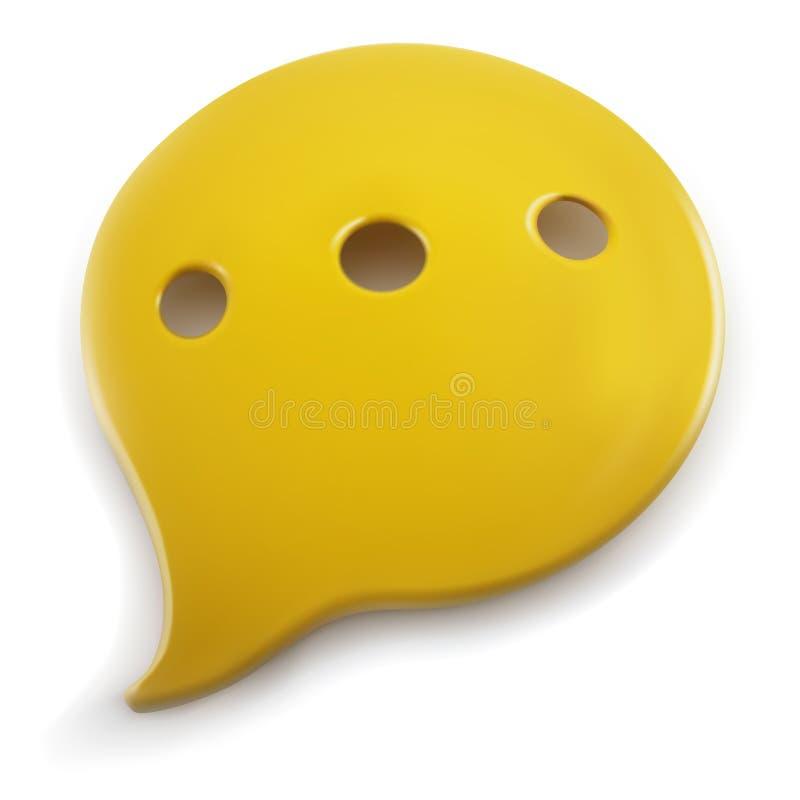 Plastikowy mowa balon ilustracja wektor