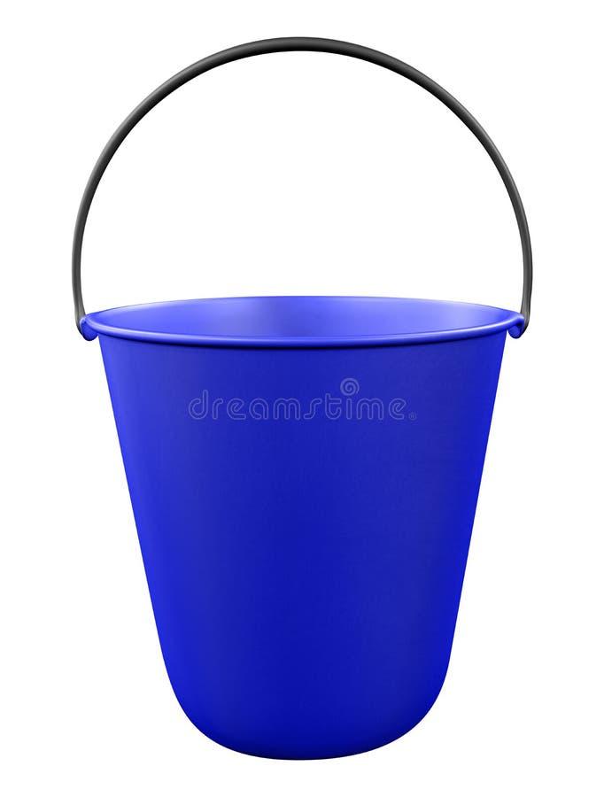 Plastikowy wiadro odizolowywający - błękit royalty ilustracja