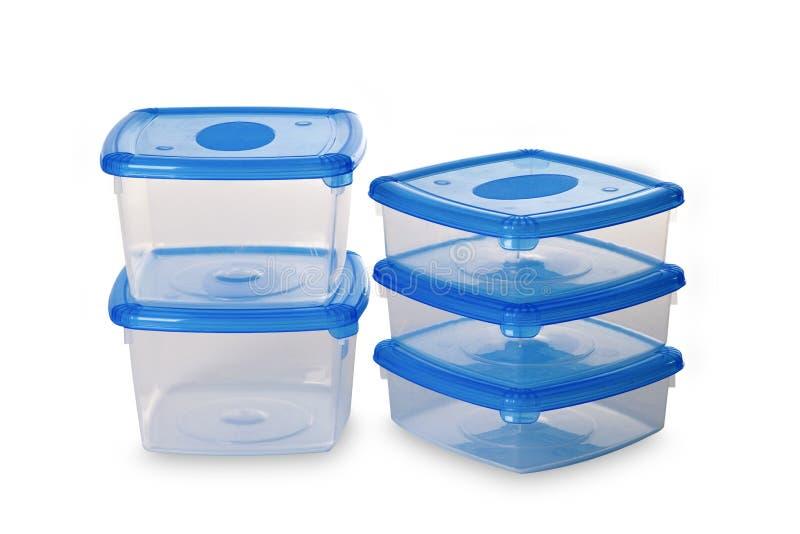Plastikowy zbiornik dla jedzenia obraz royalty free
