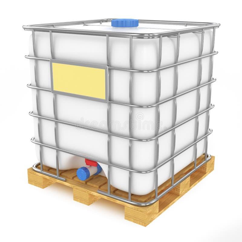 Plastikowy zbiornik wodny na białym tle ilustracja wektor