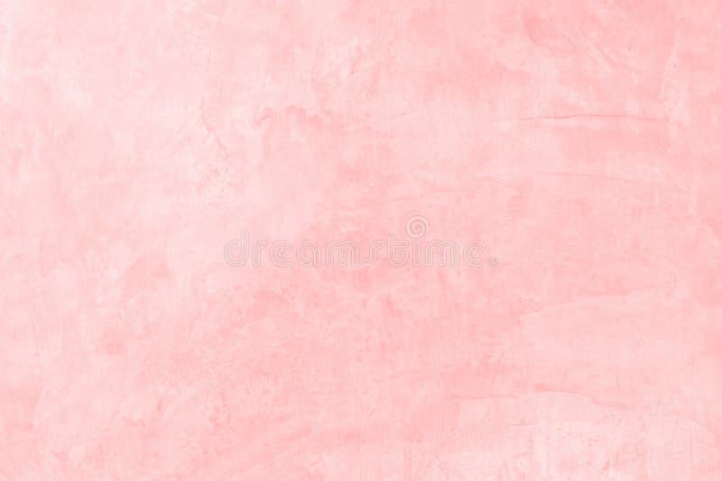 Plastikrosa der alten konkreten Farbe auf Zementwandbeschaffenheit und Hintergrund mit Raum stockfoto