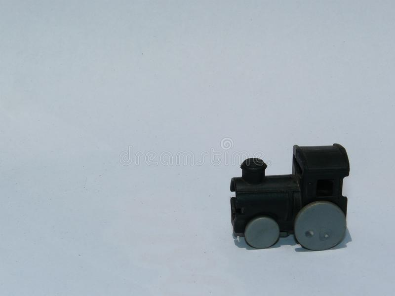 Plastikspielzeug einer Zugmaschine stockfoto