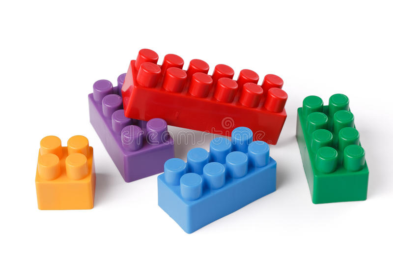 Plastikspielzeugblöcke stockfoto