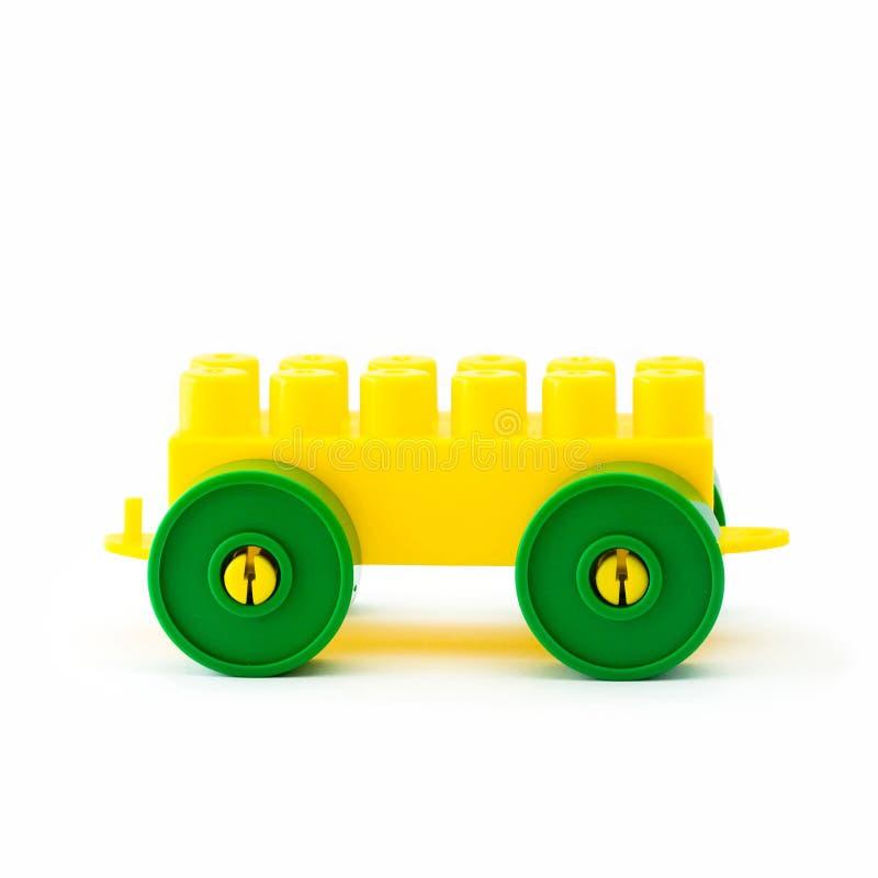 Plastikspielzeugfahrzeug stockfotos