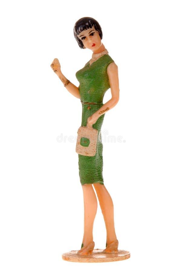 Plastikspielzeugjahrfrau lizenzfreie stockbilder