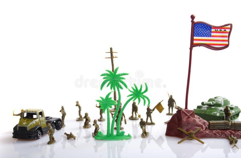Plastikspielzeugsoldat lizenzfreies stockfoto