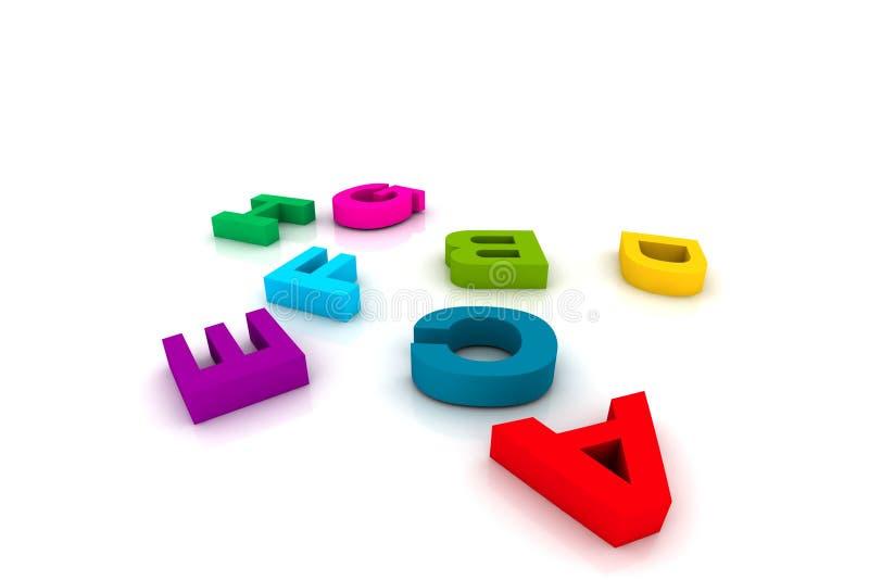 Plastikspielzeugzeichen stock abbildung