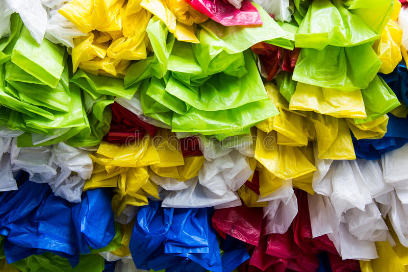 Plastiktasche stockbild