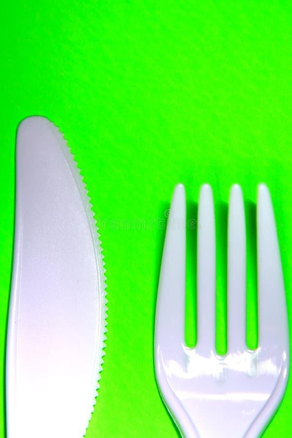 Plastiktischbesteck lizenzfreies stockbild