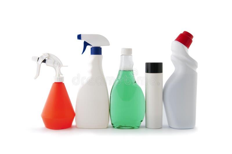 Plastikverpackung für Haushaltschemikalien lizenzfreies stockbild