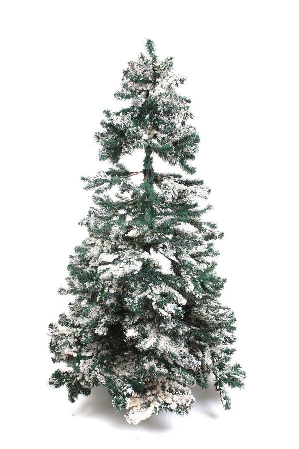 Plastikweihnachtsbaum lokalisiert lizenzfreies stockbild
