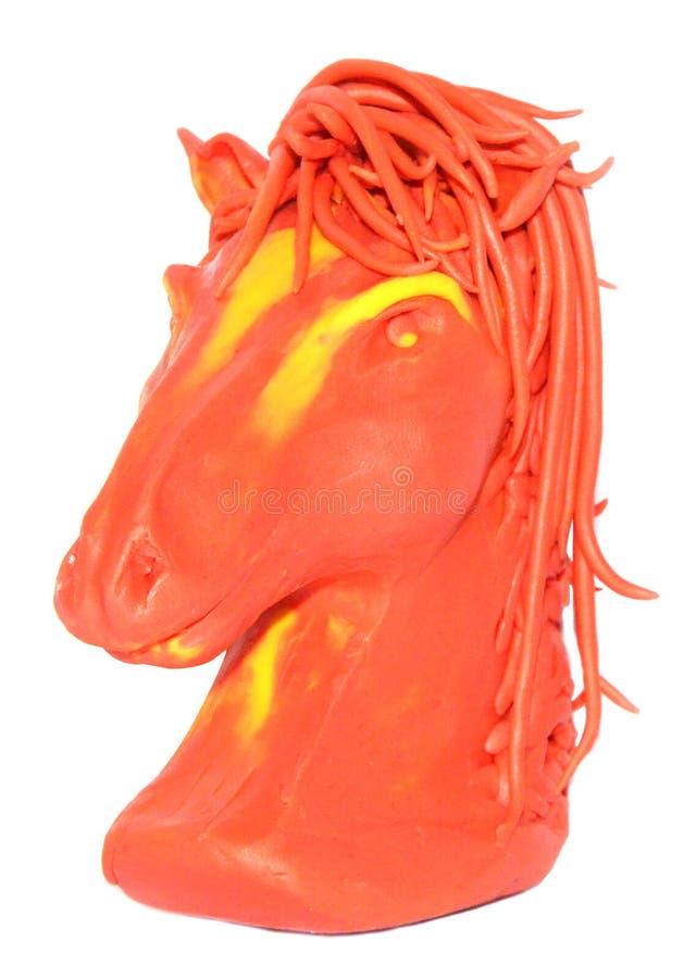 Plastilina che modella burattino equino immagine stock