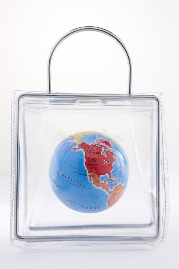 plastique de globe de sac photos libres de droits