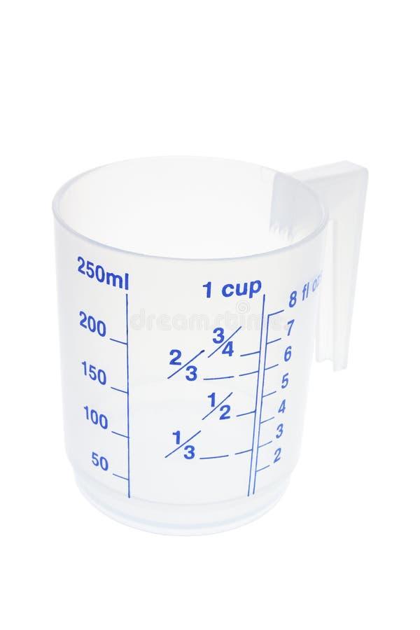 plastique de mesure de cuvette image stock