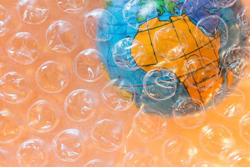 Plastique et pollution dans le concept de l'Afrique images libres de droits