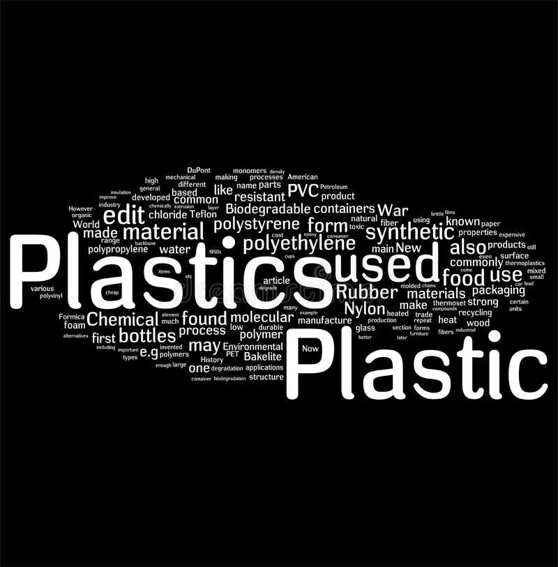 Plastique et PVC illustration stock
