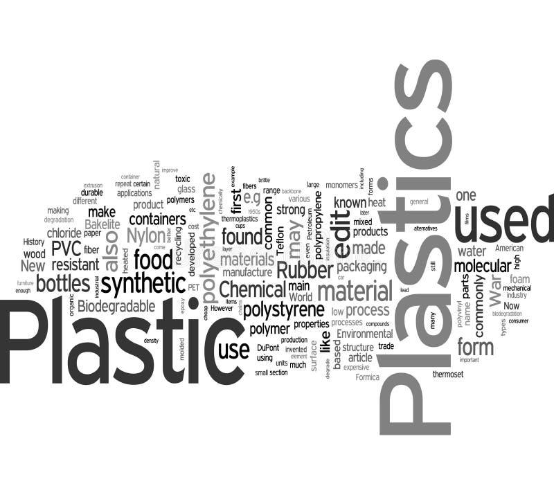Plastique et PVC illustration de vecteur