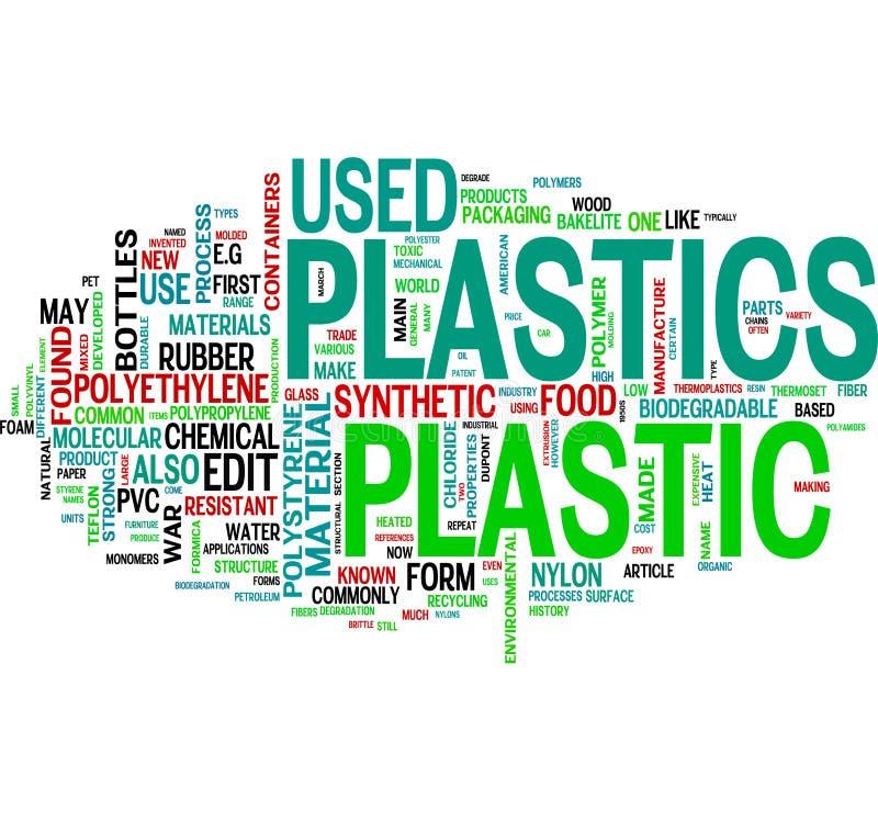 Plastique et synthétique illustration stock