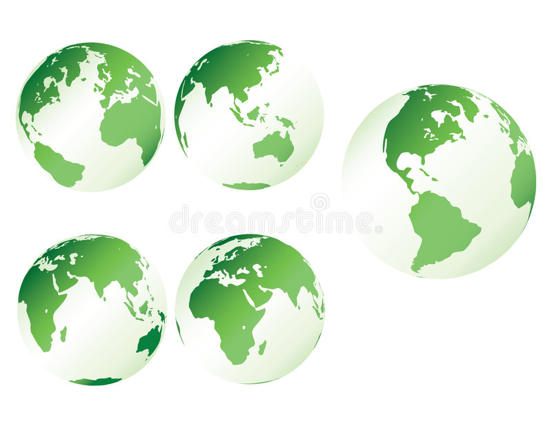 plastique vert de la terre illustration stock