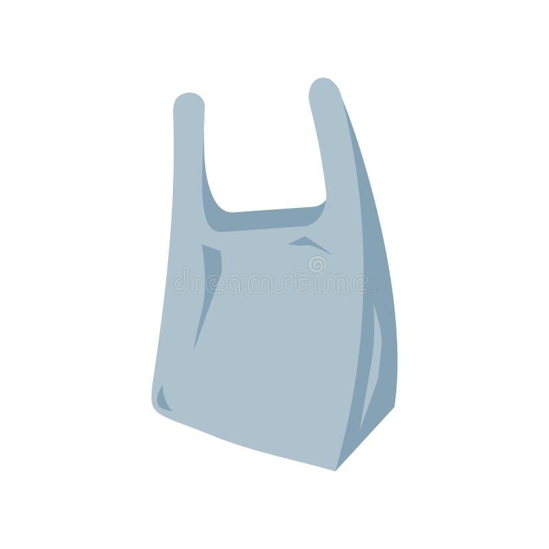 Plastpåsesymbol vektor illustrationer