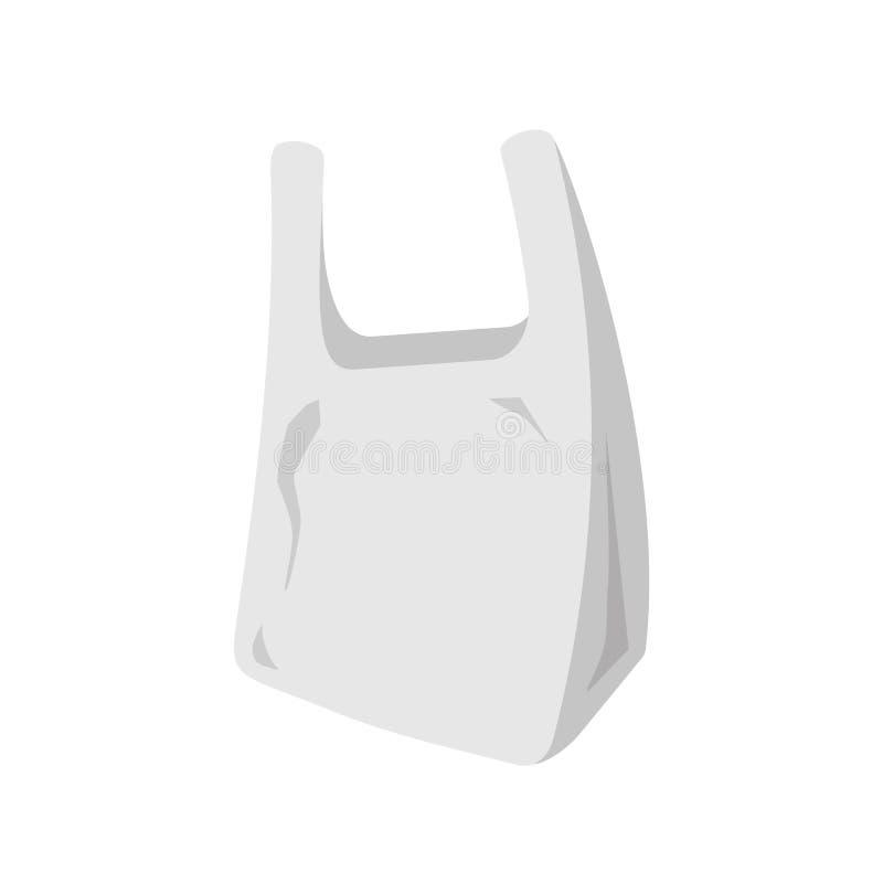 Plastpåsesymbol royaltyfri illustrationer