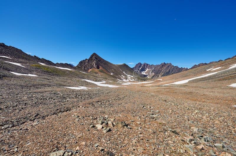 Platô alto do deserto de pedra em Sibéria oriental imagem de stock royalty free