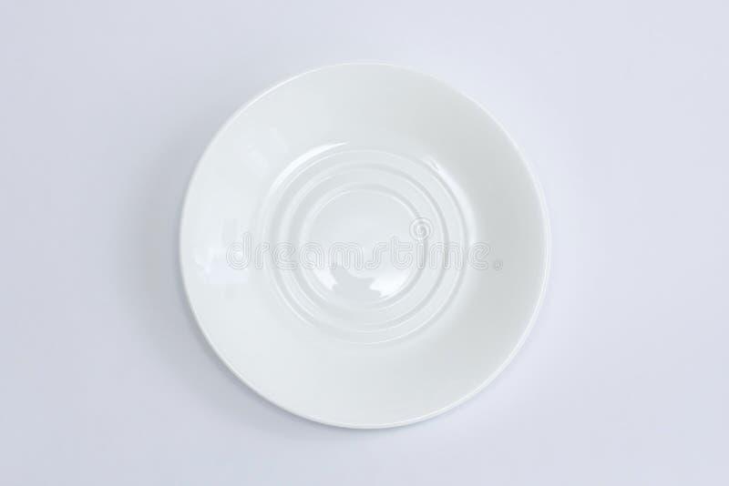 Plat blanc photo stock