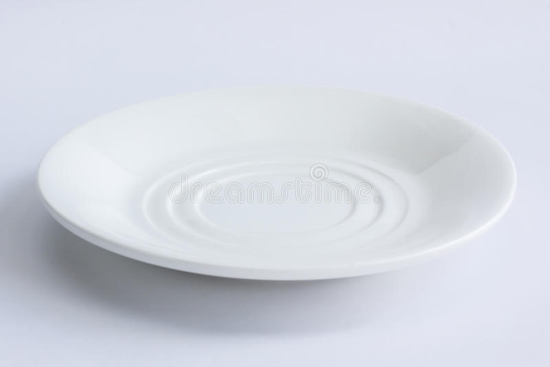 Plat blanc image stock