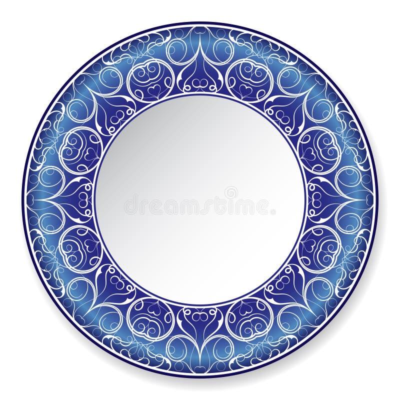 Plat bleu de decorateve illustration libre de droits