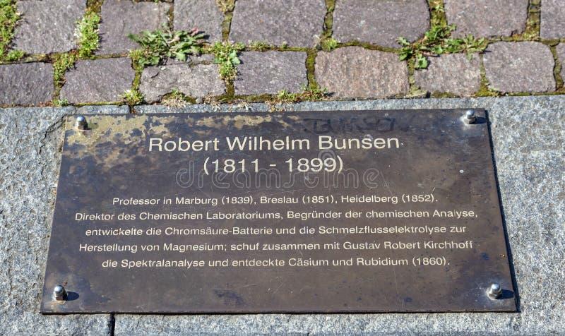 Plat commémoratif de Robert Wilhelm photos libres de droits