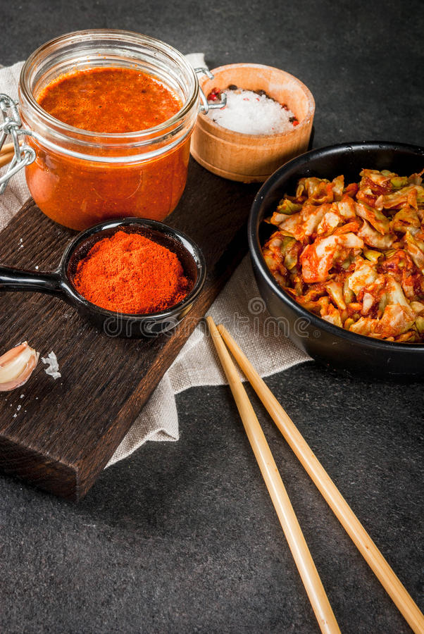Plat coréen, kimchi photo stock