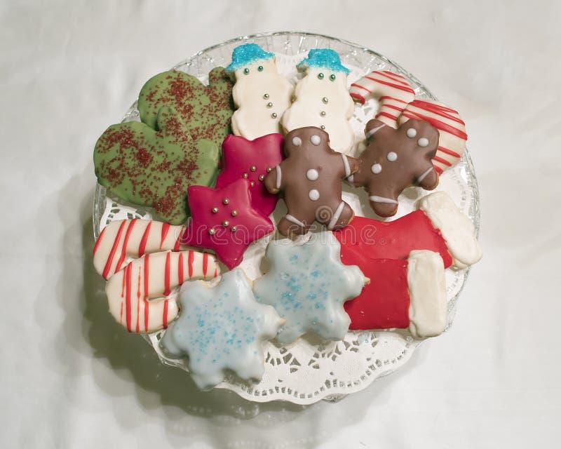 Plat de biscuit de Noël photo libre de droits