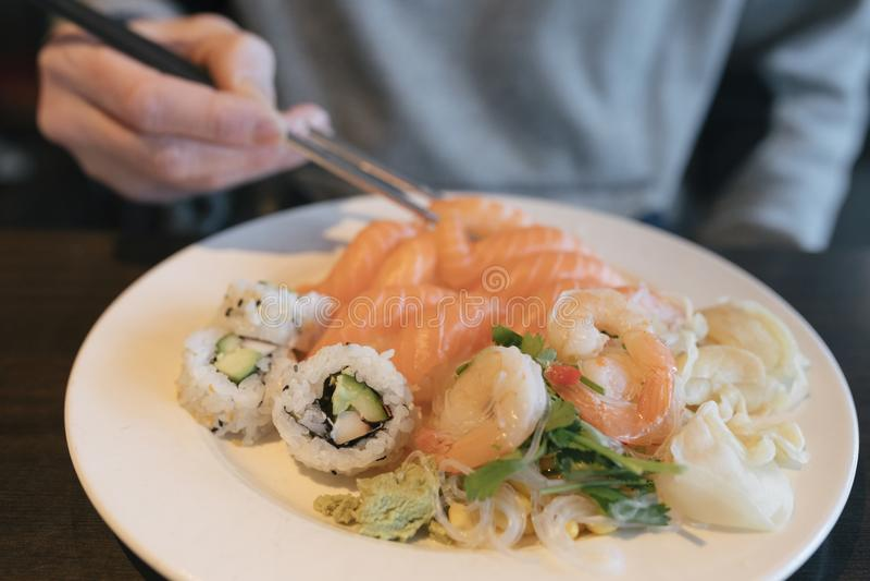 Plat de déjeuner de sushi photo stock