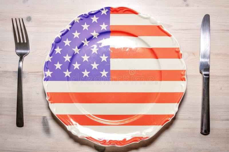 Plat de dîner Etats-Unis images stock