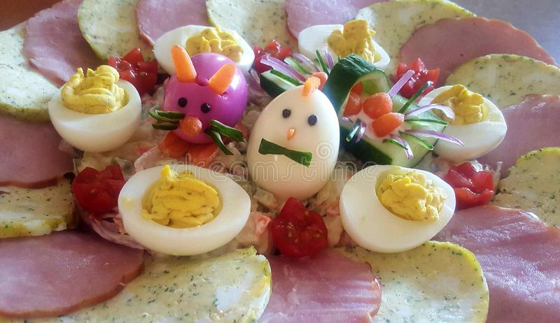 Plat de Pâques image stock