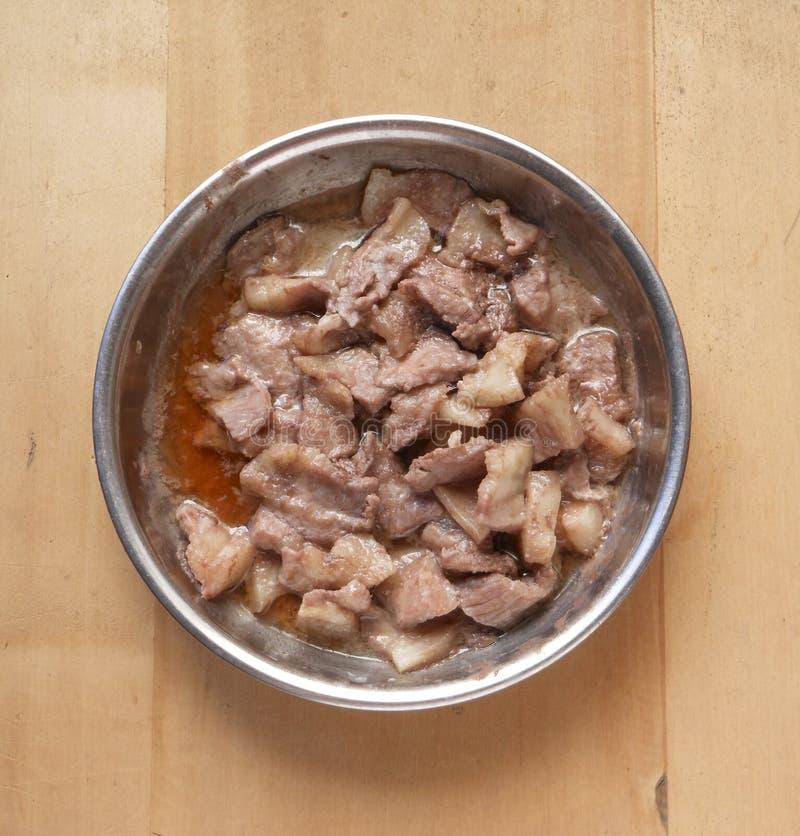 Plat de porc image stock