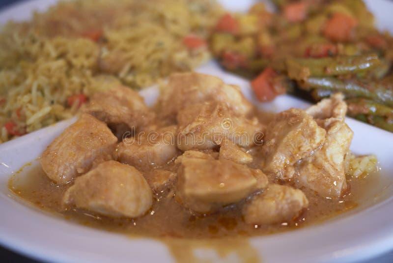Plat de poulet indien images libres de droits