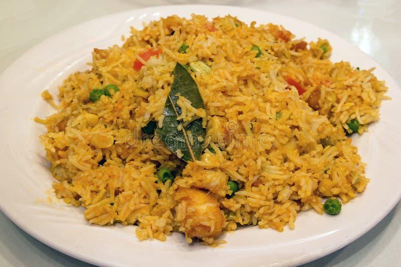 Plat de riz de Biryani d'Indien est photographie stock