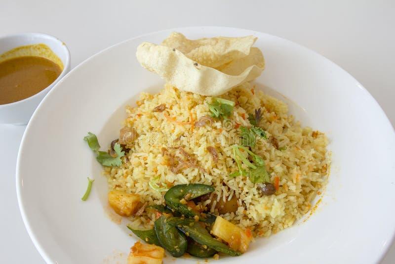 Plat de riz de Nasi Briyani d'Indien photo libre de droits